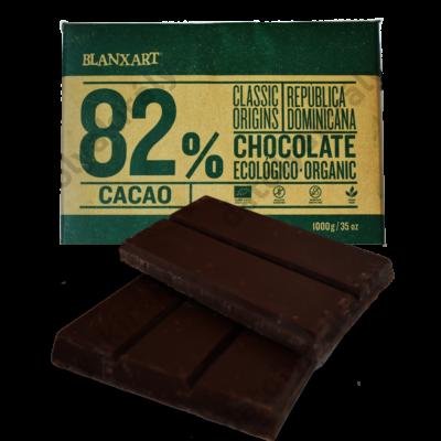Blanxart Dominika köztársaság 82% Bio Csokoládé 1Kg