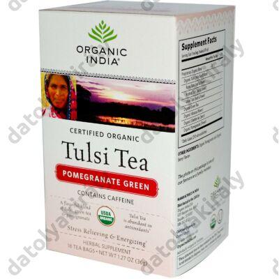 Bio Tulsi Pommengranat green - Gránátlamás zöld tea