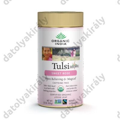 Bio Tulsi Sweet rose tea szálas, rószsaszírmokkal 100 g