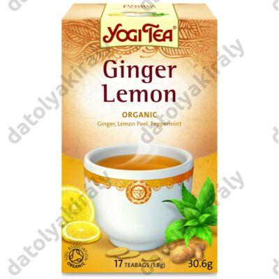 Yogi Bio citromos gyömbér tea 17X1,8G, 31 g