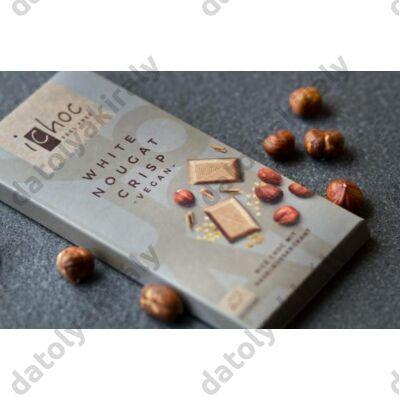 ICHOC bio nugátos tejcsokoládé ( VEGAN RIZSTEJJEL), 80 g