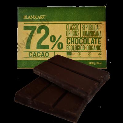 Blanxart Dominika köztársaság 72% Bio Csokoládé 1Kg