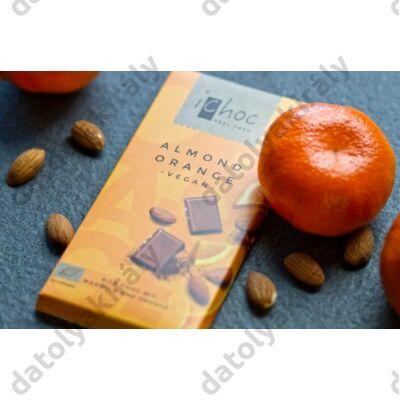 ICHOC BIO mandulás narancsos csokoládé ( VEGAN rizstejjel), 80 g