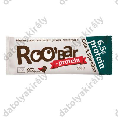 ROOBAR 100% Nyers bio protein szelet chia mag és spirulina, 60 g