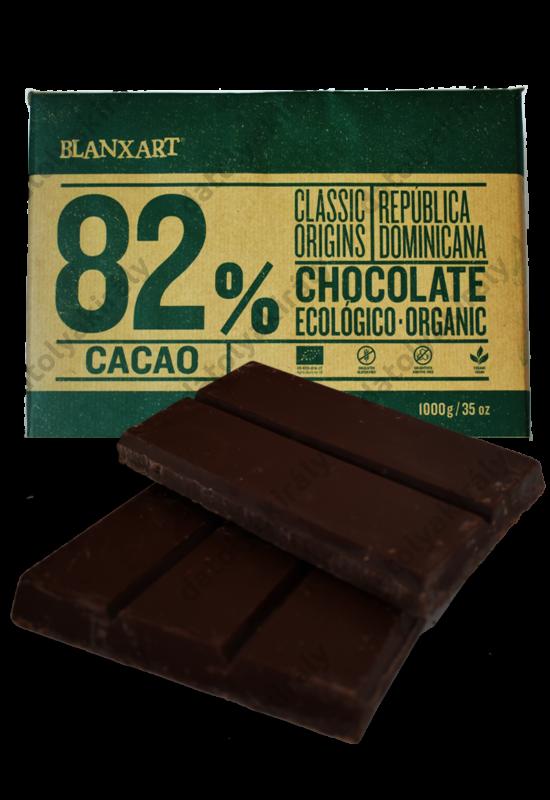 Blanxart Dominika köztársaság 82% Bio Csokoládé 1Kg pasztillás