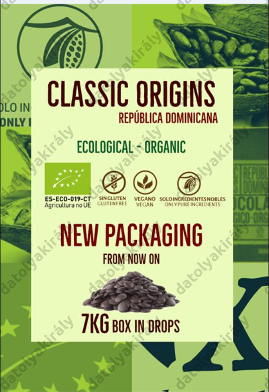 Blanxart Dominika köztársaság 100% Bio Csokoládé 500 g pasztilla
